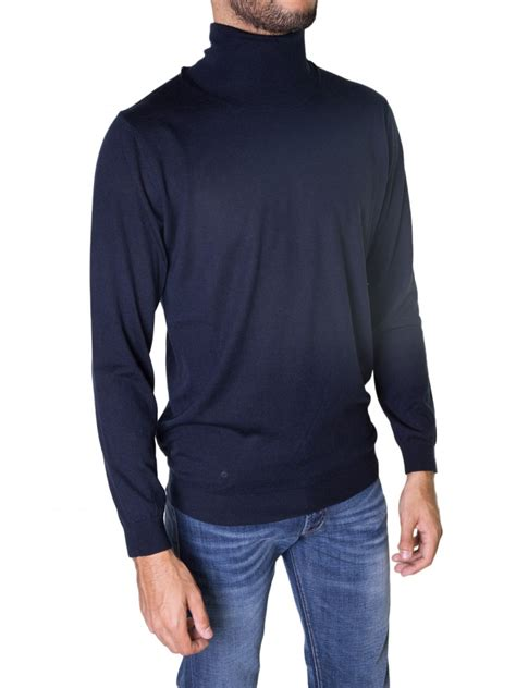 mens light blue turtleneck sweater laneus blue turtleneck sweater in blue for men lyst