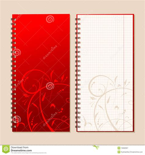 design notebook cover notebook cover and page for your design stock vector