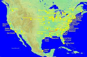 nuclear power plants in map nuclear power plants in canada map