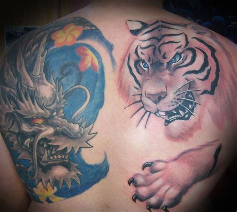 dragon and tiger tattoo tattoos ideas