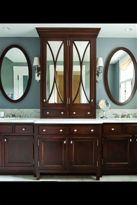 bathroom her cabinet mirrored cabinet in master bath arch designs pinterest