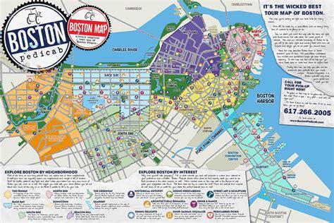 printable map boston maps update 21051488 boston map tourist boston