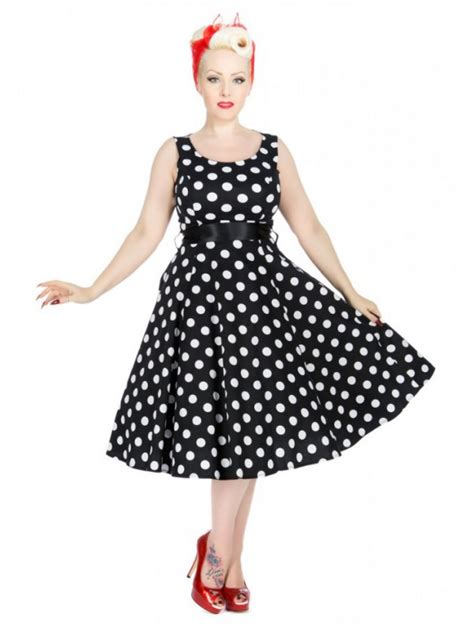Black Big Dot Dress 20651 vintage style black with large white polka dot dress with cap sleeve jacket