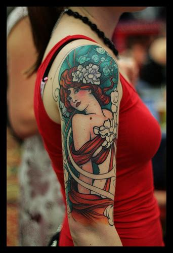 art deco tattoo design nouveau and deco nouveau tattoos