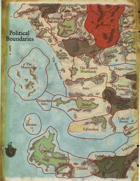 political map  faerun west