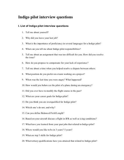 Simple Quiz About Me Seri 2 indigo pilot questions