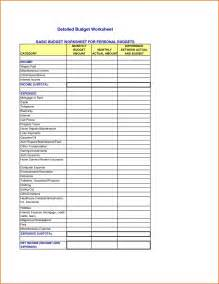 Basic Budget Template by Basic Budget Worksheetmemo Templates Word Memo Templates
