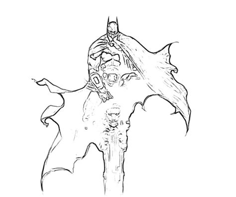 batman arkham asylum free coloring pages