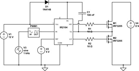 circuit design contest questions mosfet am i using ir2104 correctly electrical