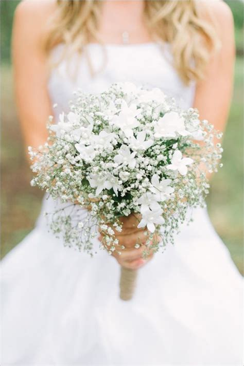 Wedding Bouquet Baby S Breath by Wedding Flowers 40 Ideas To Use Baby S Breath