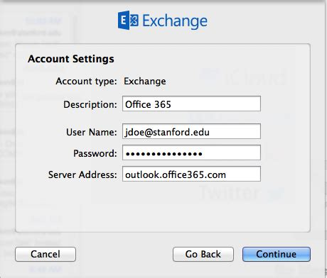Office 365 Mail Host Name Configure Apple Mail For Office 365 It