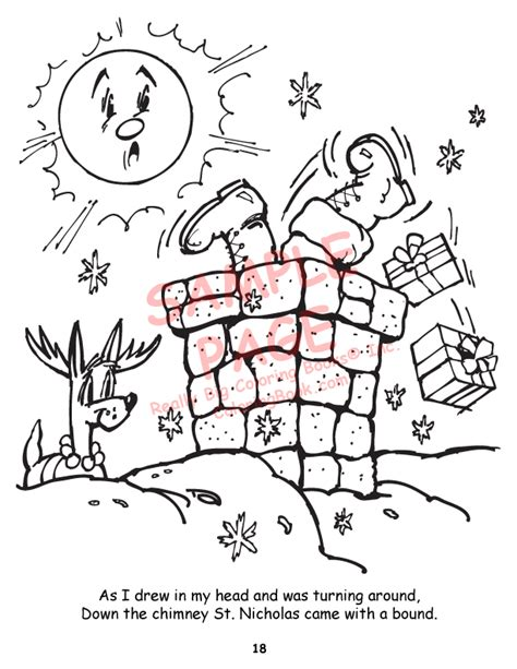 coloring books twas the night before christmas power panel