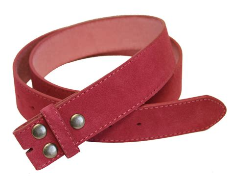 bs66 pink suede leather belt 1 1 2 quot wide