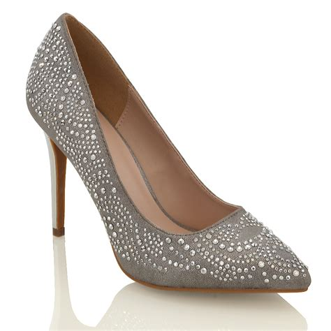 high heel point toe stiletto womens sparkly