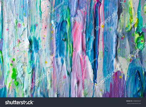 acrylic painting details abstract colorful painting details macro stock