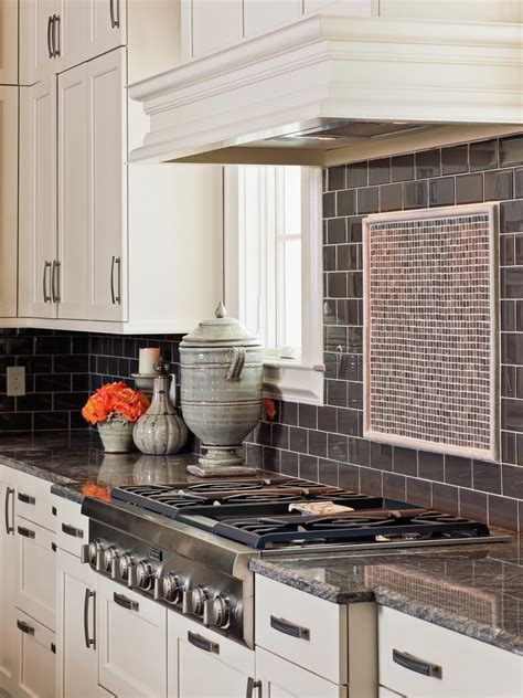 pictures of backsplashes in kitchen glass backsplash ideas pictures tips from hgtv