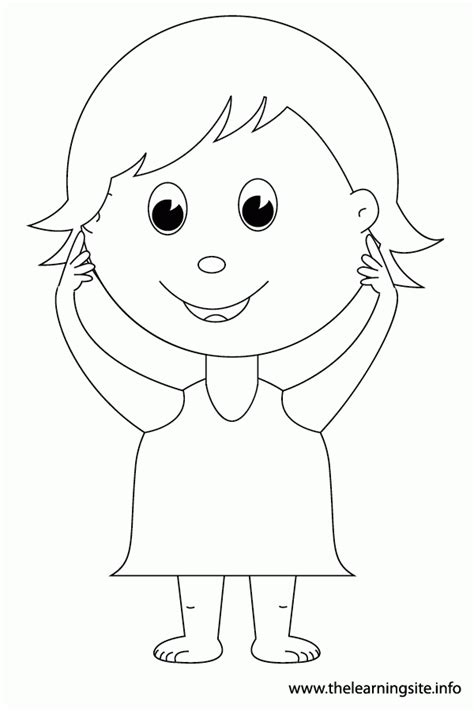 Body Parts For Kids Coloring Pages Coloring Home Corpse Coloring For Pages Print