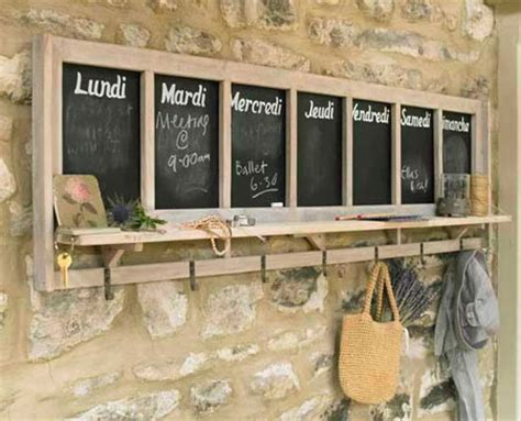 craft ideas for chalk board notice boards