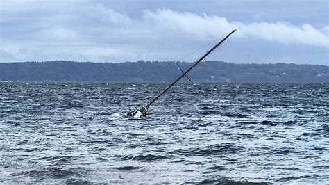 sinking boat sound small wooden sailboat sinking in puget sound kcby