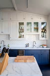 Blue Kitchens With White Cabinets by Remodelaholic 4 Features That Date A Kitchen
