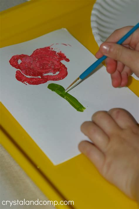 preschoolers can make cards for