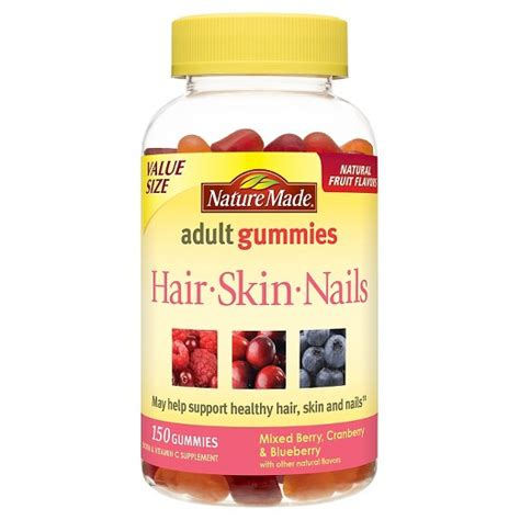 supplement for hair and nails nature made hair skin nails vitamin gummies 150ct target