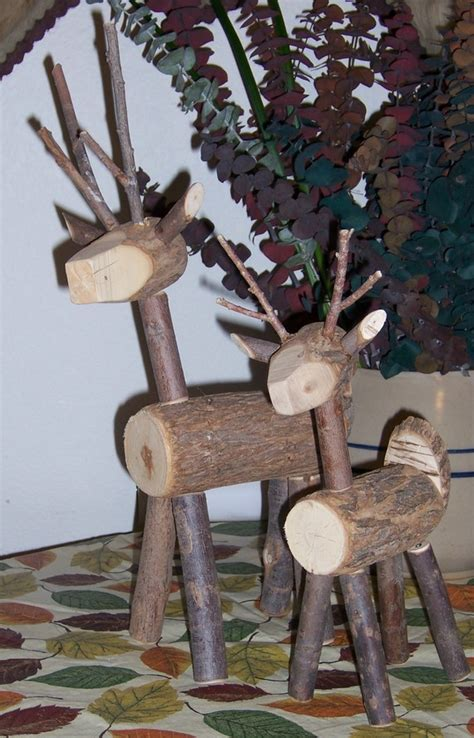 wooden reindeer yard decorations reindeer made of wood and twigs i really need to try