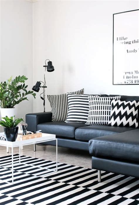 black and white living room rug 26 ways to use ikea stockholm rug for home decor digsdigs