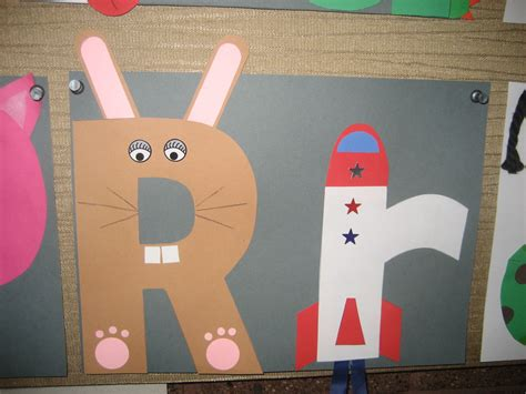 arts and letters quot rr quot letter of the week art project rabbit rocket abc 1082
