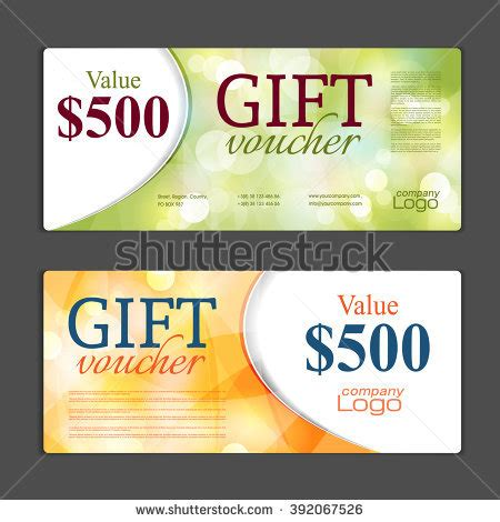 gift card coupon template stock images royalty free images vectors