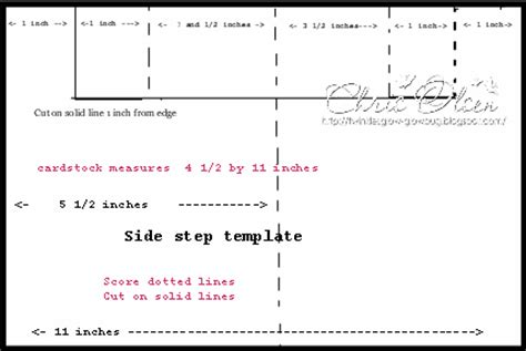 side step card template sweet wishes side step template tutorial twinkles glow