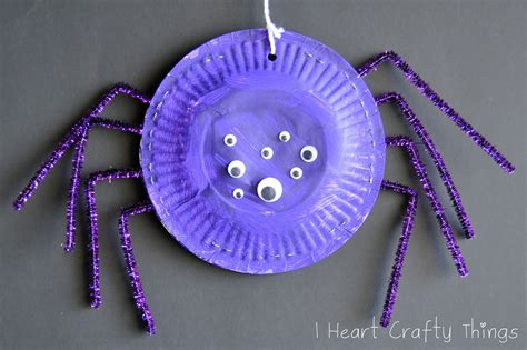 Paper Plate Spider Craft - 15 paper plate crafts