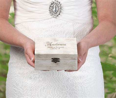 Wedding Vow Box by Personalised Rustic Wedding Ring And Vow Box