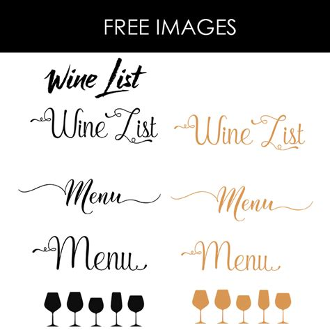 Wedding Menu Font Free by Design Templates Menu Templates Wedding Menu Food