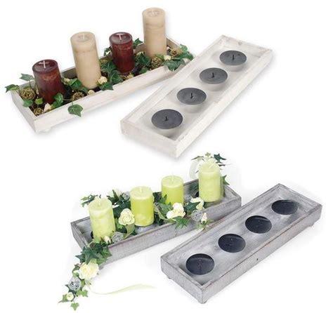 kerzenhalter für teelichter holz kerzen teller f 195 188 r adventsgestecke