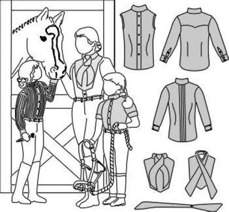 sewing pattern for stock tie suitability 3140 womens girls riding shirts w choker stock