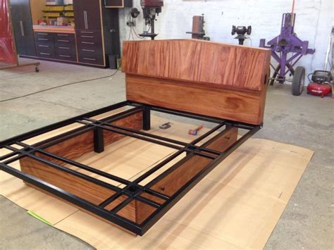 Custom Made Bed Frame Custom Made Headboard And Bed Frame Wood And Steel Furniture Furniture Home Decor