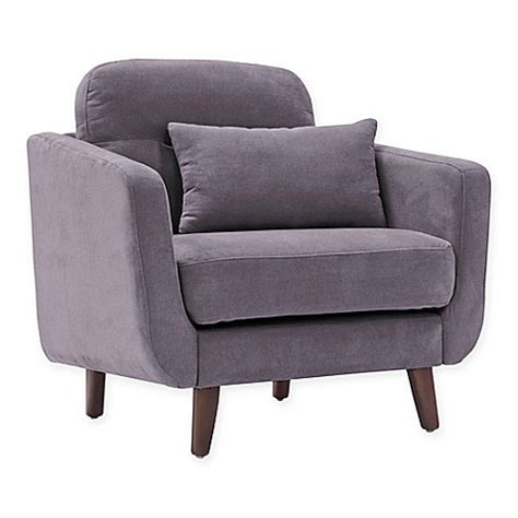 chloe armchair buy elle d 233 cor chloe armchair in dark grey from bed bath beyond