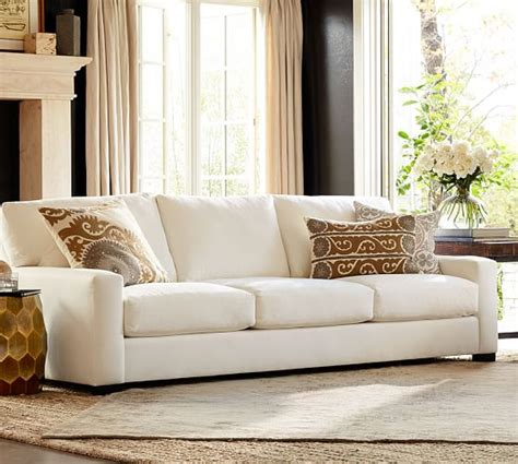 pottery barn loveseats turner square arm upholstered sofa pottery barn