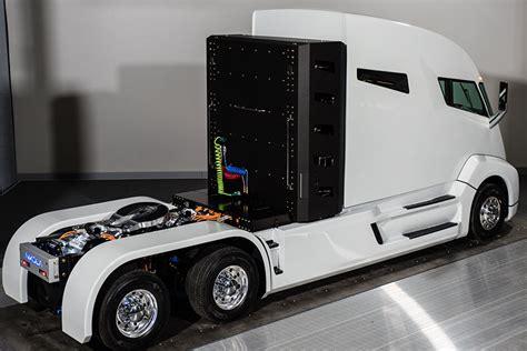 nikola electric semi truck nikola tweaks hydrogen truck design raises funding