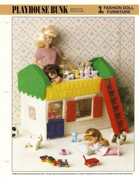 pattern for barbie doll house details about fashion doll furniture plastic canvas