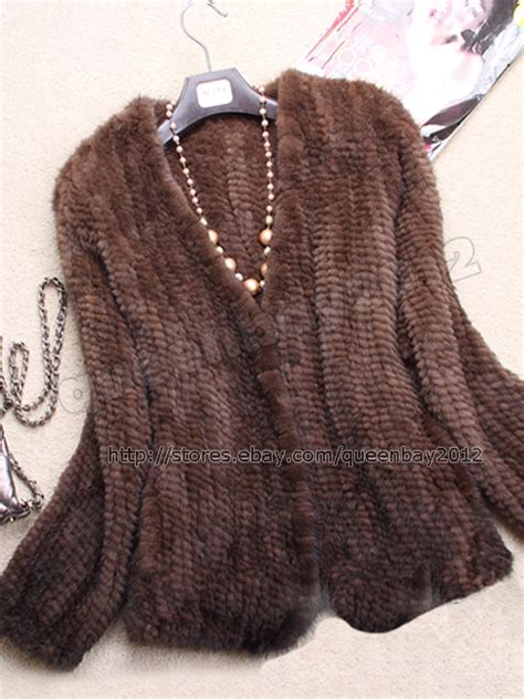 knit mink jacket 100 real knitted mink fur jacket knit coat outwear vintage