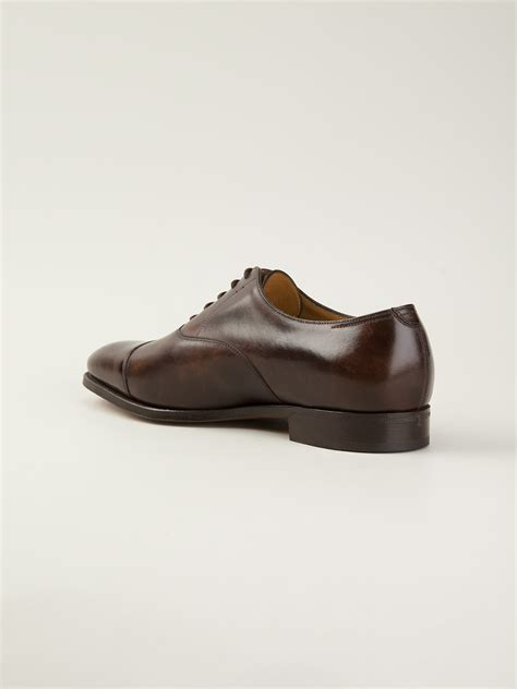 lobb oxford shoes lyst lobb city 2 oxford shoes in brown for