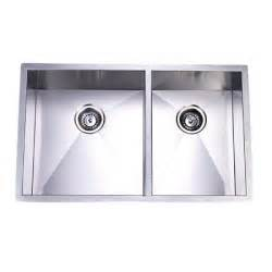 Towne square stainless steel undermount double kitchen sink free