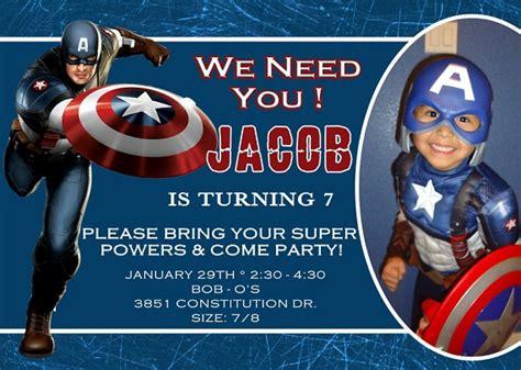 captain america birthday party invitation ideas bagvania