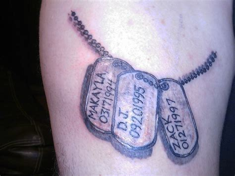 dog tags tattoo tags pictures at checkoutmyink