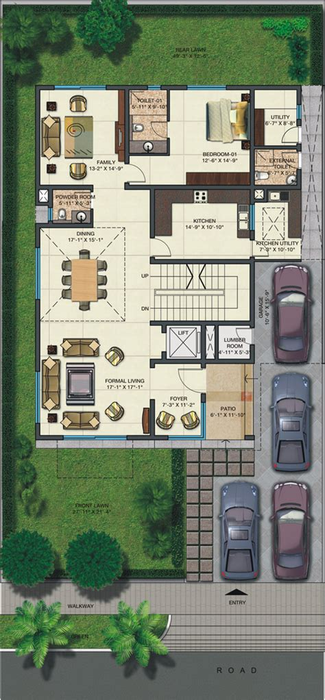 500 square yard house plan 500 sq yard house plan house plans