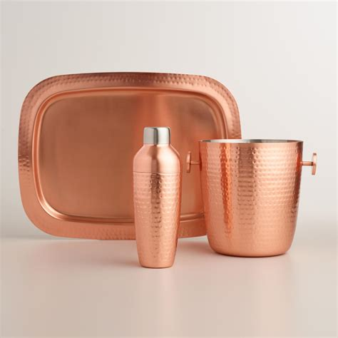 barware com hammered copper barware collection world market