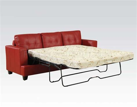 modern sleeper sofa queen red bonded leather modern sofa w queen size sleeper