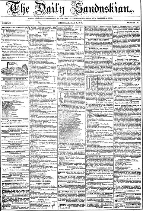 Paper From Newspaper - genealogybank adds sandusky register 1848 1867 ohio
